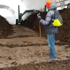 Steaming compost at ISU farm.