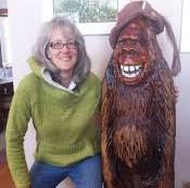 Kim Steele-Blair and Sasquatch Shirley