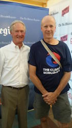 Lincoln Chafee with Ed Fallon