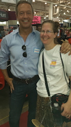 Martin O'Malley with Shari