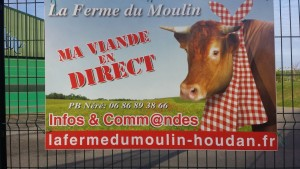So much local food in France, including direct marketing of beef.