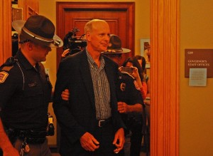 Arrested at Governor's office