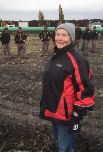 Shirley Gerjets and her unwelcome guests: A large security force and an even larger pipeline.