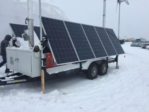 Solar panels are everywhere at Oceti Sakowin. Photo by Lyssa Wade.