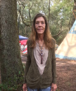 One of the Sacred Water Camp's organizers: Debra Johnson, nearby landowner and long-time local resident.